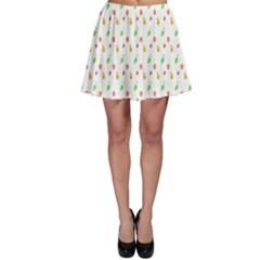 Fruit Pattern Vector Background Skater Skirt