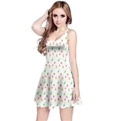 Fruit Pattern Vector Background Reversible Sleeveless Dress