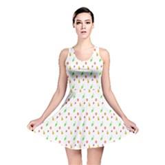 Fruit Pattern Vector Background Reversible Skater Dress