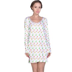 Fruit Pattern Vector Background Long Sleeve Nightdress