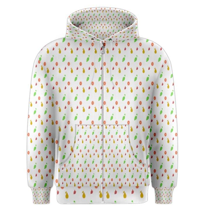 Fruit Pattern Vector Background Men s Zipper Hoodie