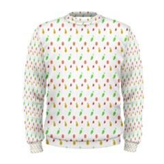 Fruit Pattern Vector Background Men s Sweatshirt