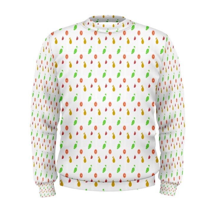 Fruit Pattern Vector Background Men s Sweatshirt