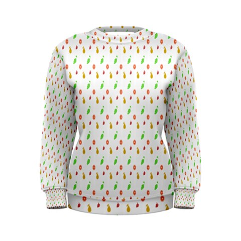 Fruit Pattern Vector Background Women s Sweatshirt
