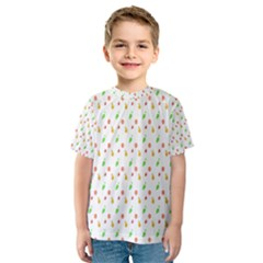 Fruit Pattern Vector Background Kids  Sport Mesh Tee