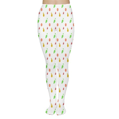 Fruit Pattern Vector Background Women s Tights