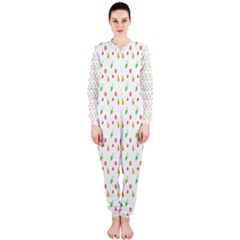 Fruit Pattern Vector Background OnePiece Jumpsuit (Ladies)