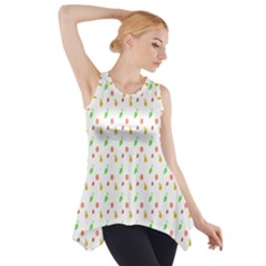 Fruit Pattern Vector Background Side Drop Tank Tunic