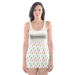 Fruit Pattern Vector Background Skater Dress Swimsuit