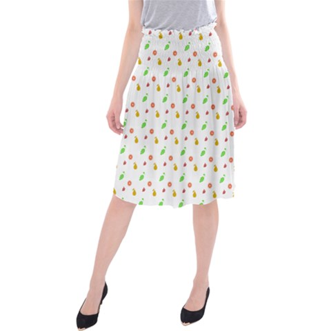 Fruit Pattern Vector Background Midi Beach Skirt