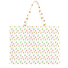 Fruit Pattern Vector Background Large Tote Bag