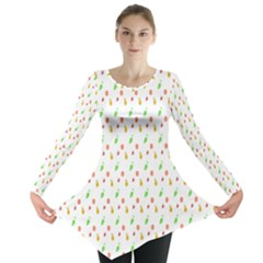 Fruit Pattern Vector Background Long Sleeve Tunic