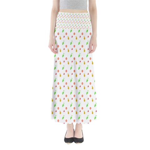 Fruit Pattern Vector Background Maxi Skirts