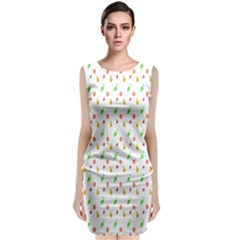 Fruit Pattern Vector Background Classic Sleeveless Midi Dress