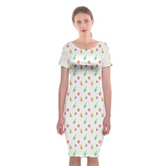 Fruit Pattern Vector Background Classic Short Sleeve Midi Dress