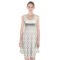 Fruit Pattern Vector Background Racerback Midi Dress