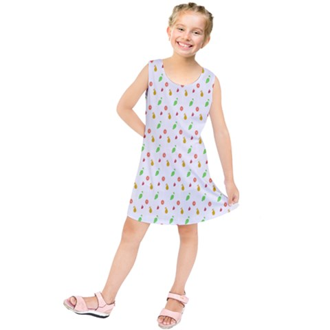 Fruit Pattern Vector Background Kids  Tunic Dress