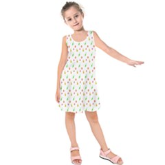 Fruit Pattern Vector Background Kids  Sleeveless Dress