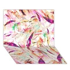 Grass Blades Clover 3D Greeting Card (7x5)