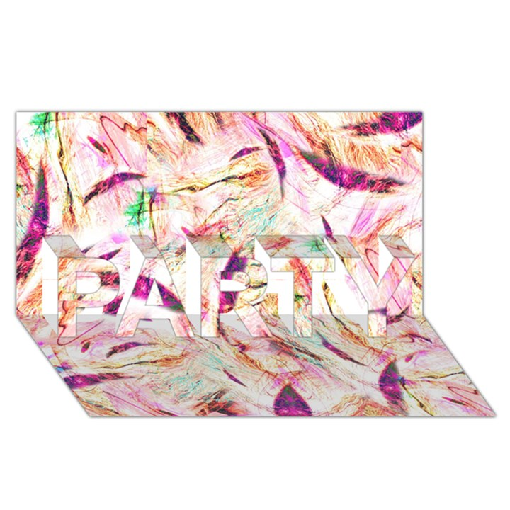 Grass Blades PARTY 3D Greeting Card (8x4)