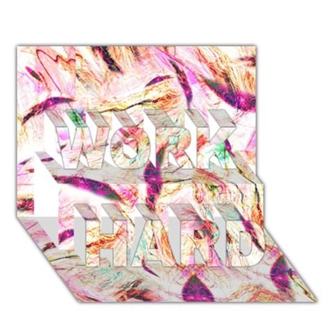 Grass Blades WORK HARD 3D Greeting Card (7x5)