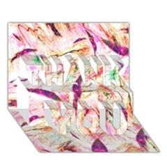 Grass Blades THANK YOU 3D Greeting Card (7x5)