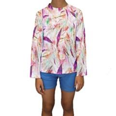 Grass Blades Kids  Long Sleeve Swimwear
