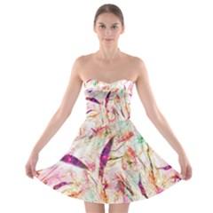 Grass Blades Strapless Bra Top Dress