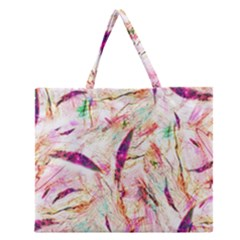 Grass Blades Zipper Large Tote Bag