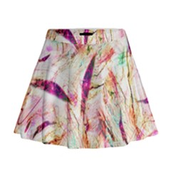 Grass Blades Mini Flare Skirt
