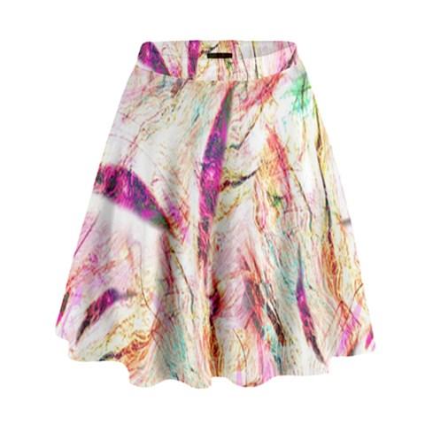 Grass Blades High Waist Skirt