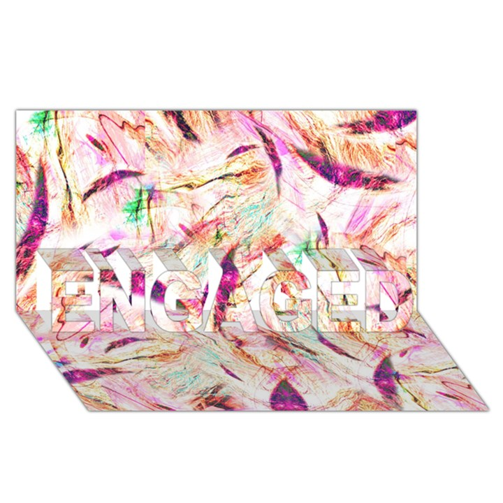 Grass Blades ENGAGED 3D Greeting Card (8x4)