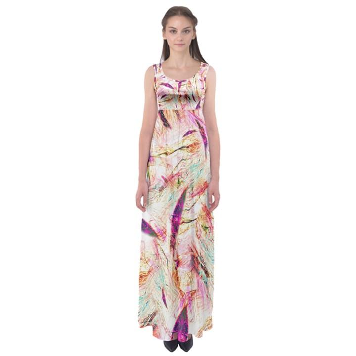 Grass Blades Empire Waist Maxi Dress