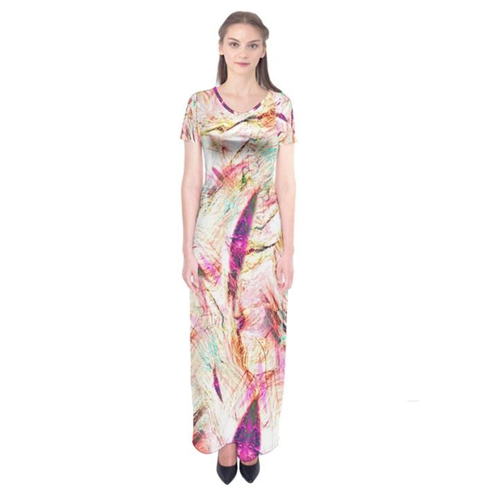 Grass Blades Short Sleeve Maxi Dress
