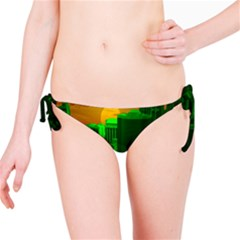 Green Building City Night Bikini Bottom