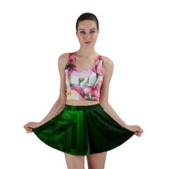 Green Building City Night Mini Skirt