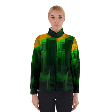 Green Building City Night Winterwear