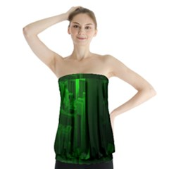 Green Building City Night Strapless Top