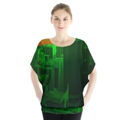 Green Building City Night Blouse