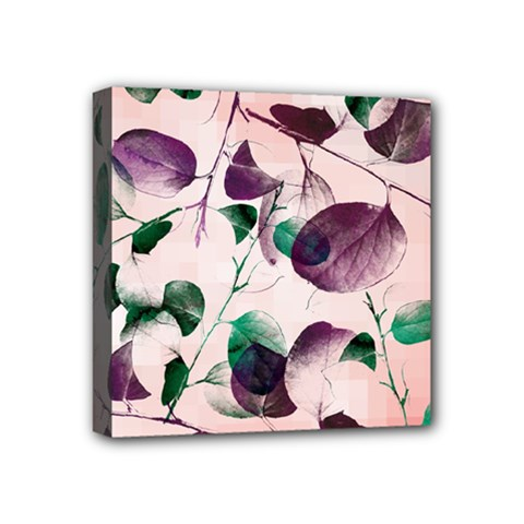 Spiral Eucalyptus Leaves Mini Canvas 4  X 4