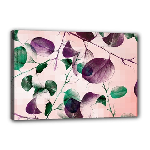 Spiral Eucalyptus Leaves Canvas 18  X 12