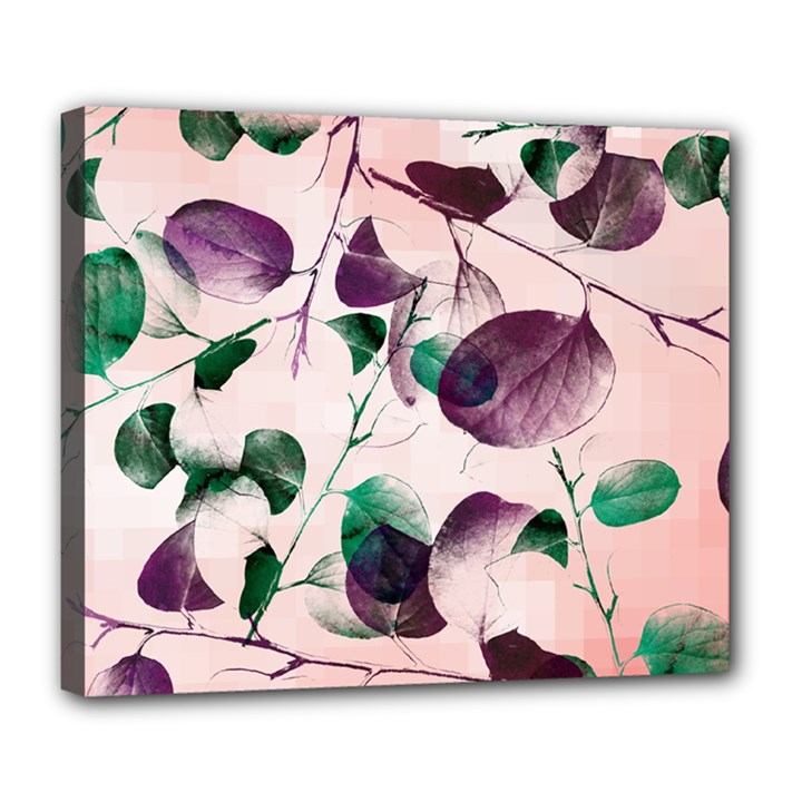 Spiral Eucalyptus Leaves Deluxe Canvas 24  x 20