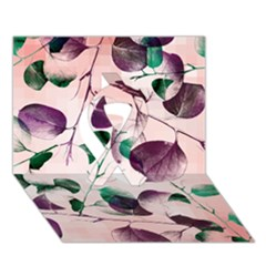 Spiral Eucalyptus Leaves Ribbon 3D Greeting Card (7x5)