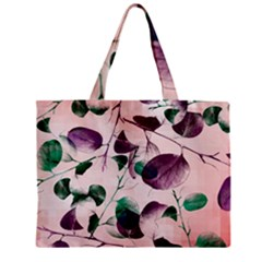Spiral Eucalyptus Leaves Zipper Mini Tote Bag