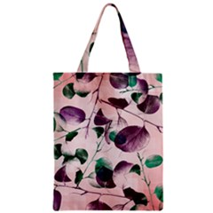 Spiral Eucalyptus Leaves Zipper Classic Tote Bag