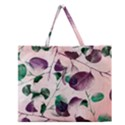 Spiral Eucalyptus Leaves Zipper Large Tote Bag View1
