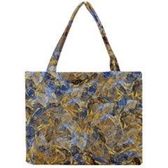 Antique Anciently Gold Blue Vintage Design Mini Tote Bag