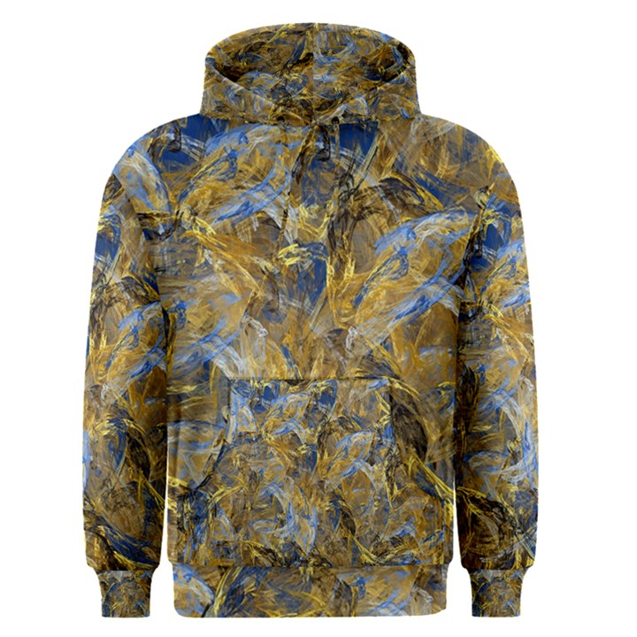 Antique Anciently Gold Blue Vintage Design Men s Pullover Hoodie