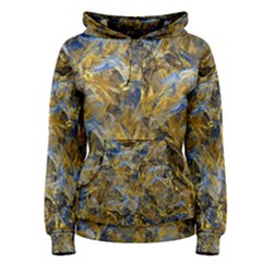 Antique Anciently Gold Blue Vintage Design Women s Pullover Hoodie