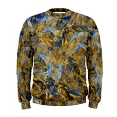 Antique Anciently Gold Blue Vintage Design Men s Sweatshirt